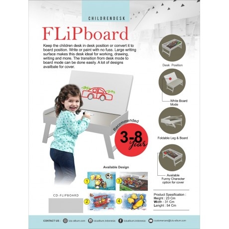 Children Desk Flip Board