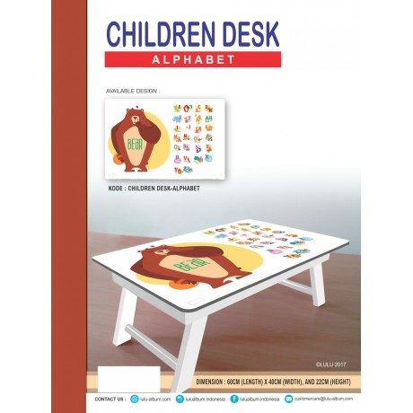 CHILDREN DESK ALPHABET