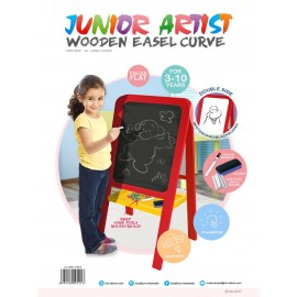 EASEL CURVE - chalks board and markers board