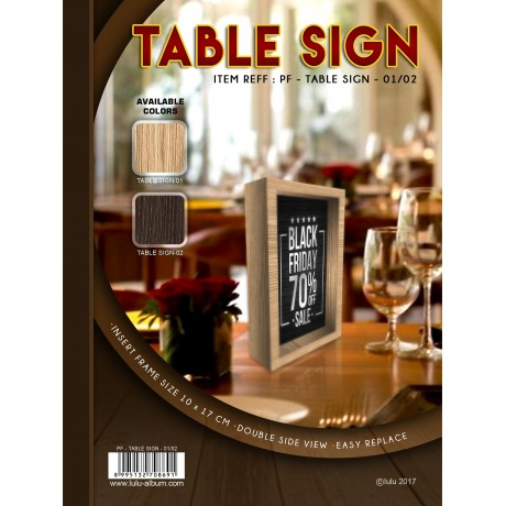 PF - TABLE SIGN